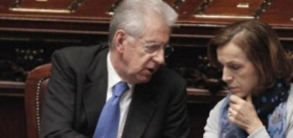 Mario Monti ed Elsa Fornero