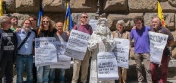Amnistia e indulto 2014, manifestazione a Firenze