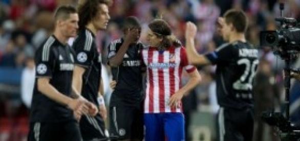 Filipe, al término el partido de Champions
