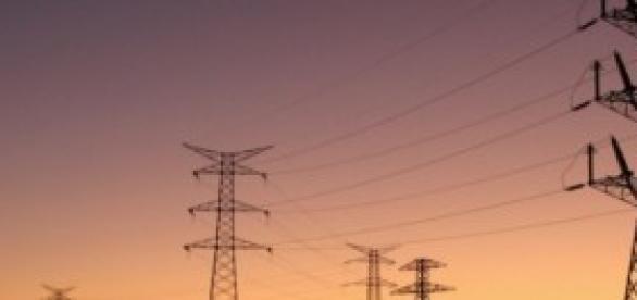 Torres de distribución de alta tensión