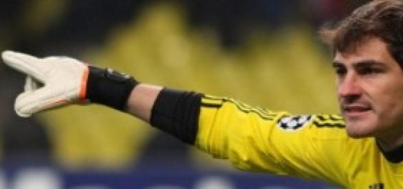 El capitan del conjunto blanco. Iker Casillas.