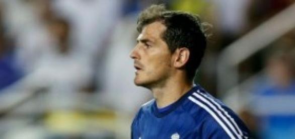 Iker en el partido contra la Roma