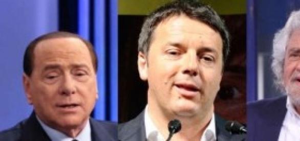 Sondaggi: Renzi, Grillo e Berlusconi