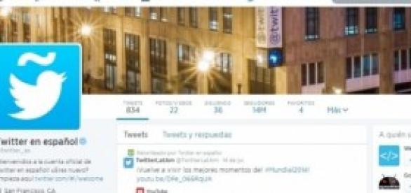 Perfil en español de Twitter