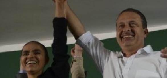 Marina Silva e Eduardo Campos (Fonte Wikipedia)