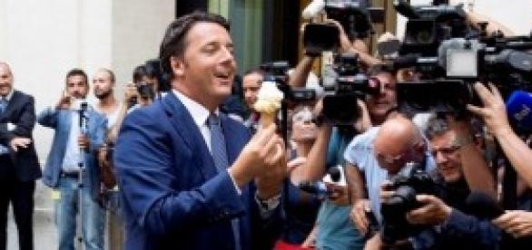 Renzi col gelato vs l'Economist