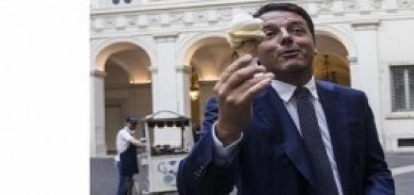 Renzi fa il gelataio per un giorno