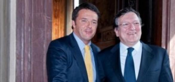 Matteo Renzi e Manuel Barroso