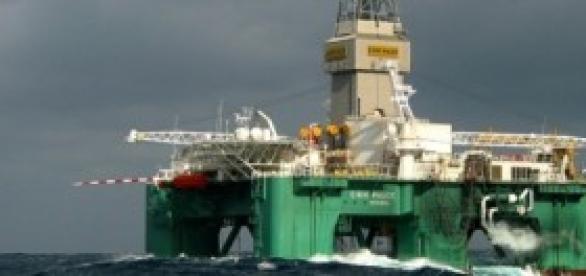 Plataforma petrolífera en operación