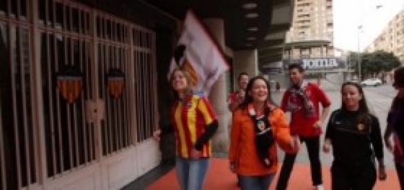 Valencianistas llenos de ilusión.