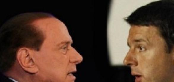 Il confronto Berlusconi - Renzi