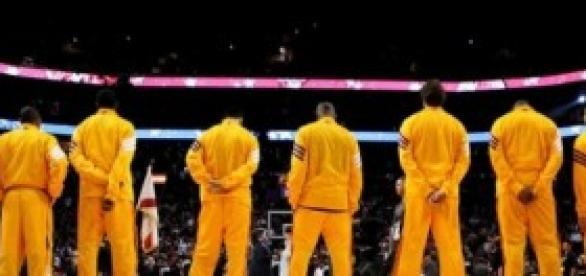 Presentación ante el Staples Center