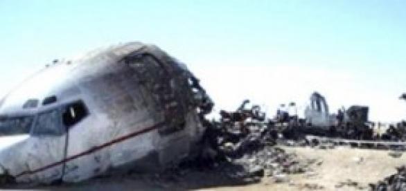 l'épave de l'avion qui s'est crashé récement