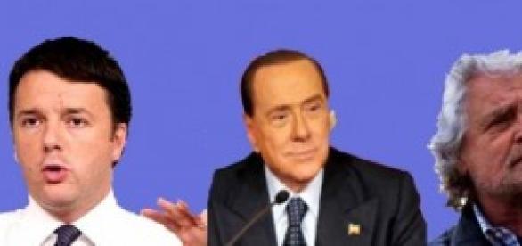 Renzi, Berlusconi, Grillo: riforme e giustizia