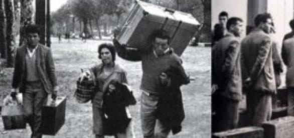 Españoles emigrando en el pasado