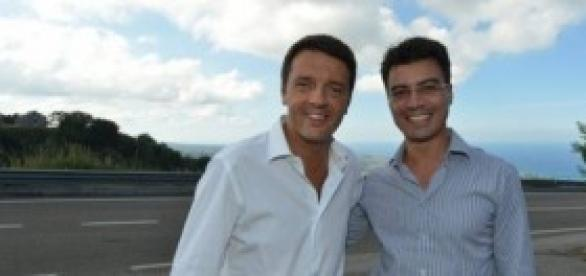 Gianluca Callipo con Matteo Renzi