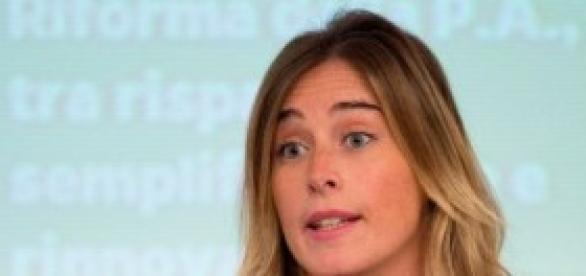 Ministro Riforme Maria Elena Boschi del Pd
