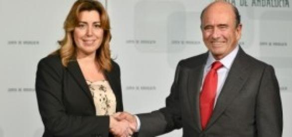 Emilio Botín con Susana Díaz.