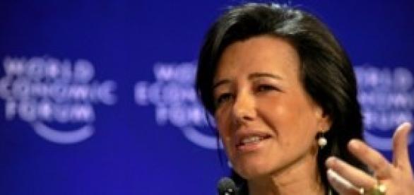La actual presidenta del Banco Santander.