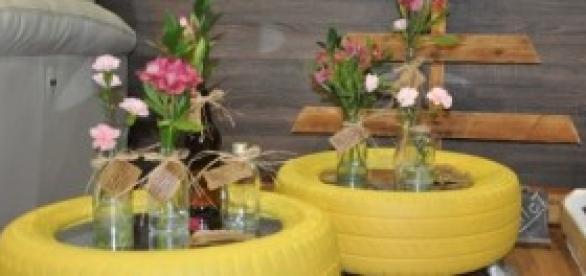 Pneus viraram vasos (fonte:marianasimionato.com)