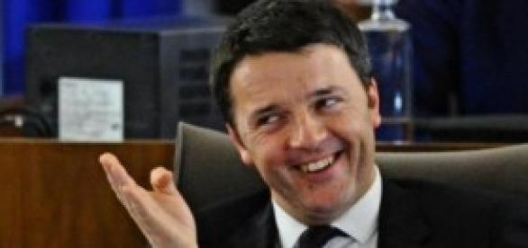 Matteo Renzi in uno scatto fugace