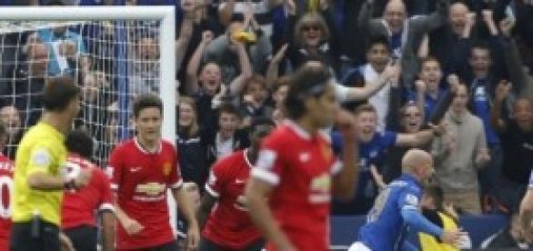 Imagen de uno de los goles del Leicester