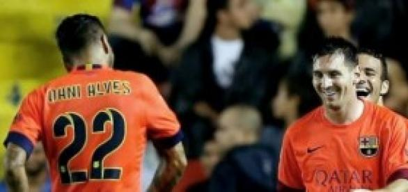 Messi tras su gol en el partido