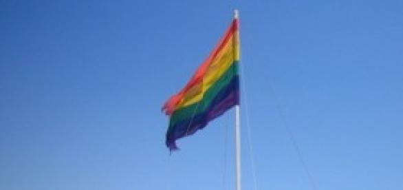 La bandera que representa el movimiento LGBT.