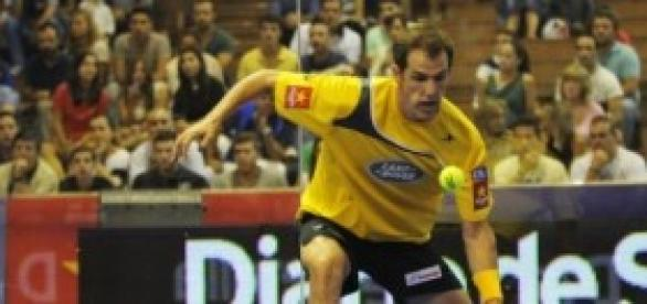 Juan Martín Díaz en un momento de la final.