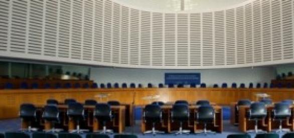 l'aula della corte europea a Strasburgo