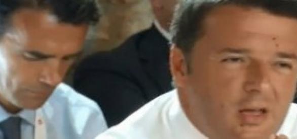 Matteo Renzi durante il discorso
