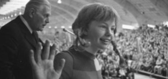 La actriz de la serie en 1972.