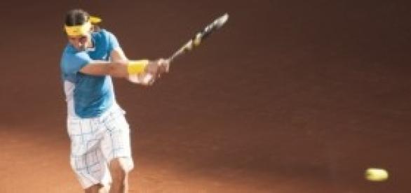 Rafael Nadal en un partido.