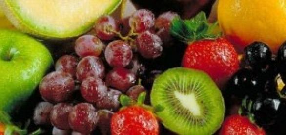 Variedade de nutrientes e alimentação saudável.