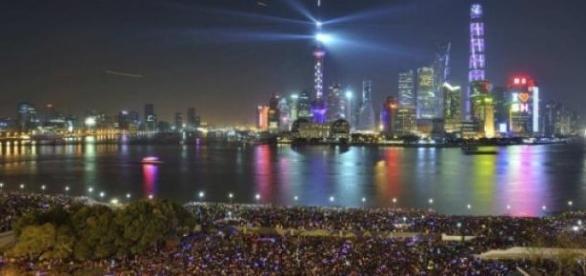 Imagen de Shanghái en su celebración de Año Nuevo