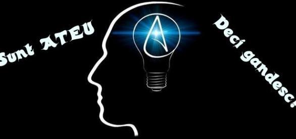sunt ateu deci gandesc logo atei