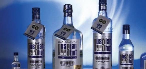 Vodka Ruso en imagen de archivo