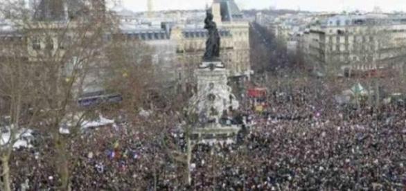 Marcha pela paz realizada em Paris