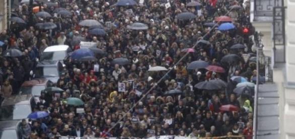 Marcha silenciosa en Francia