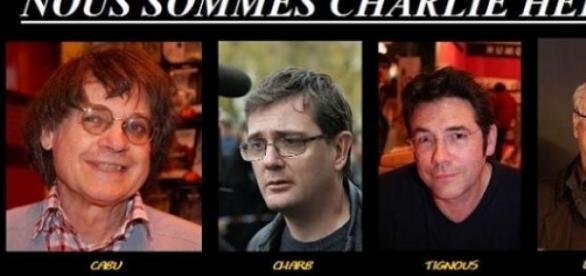 Los cuatro dibujantes del Charlie muertos.
