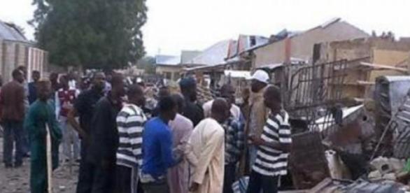 Mercado de Nigeria, lugar del atentado