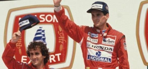 Senna e Prost, 1988 (imagem Wikipedia)