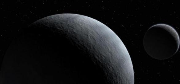 Plutón y Caronte, su satélite más conocido.