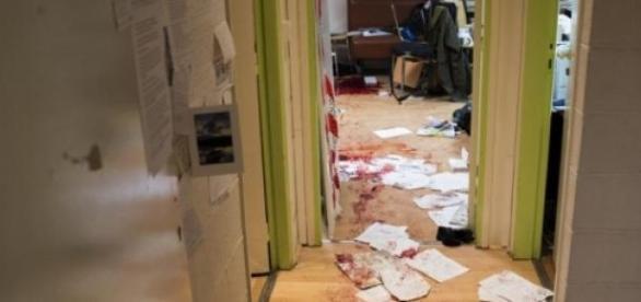 Salas da Revista após o atentado