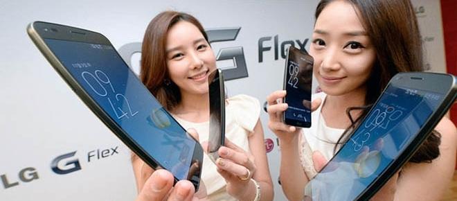 Promoción del G Flax, un teléfono muy raro