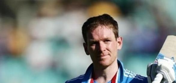 England Captain Eoin Morgan hit his first century