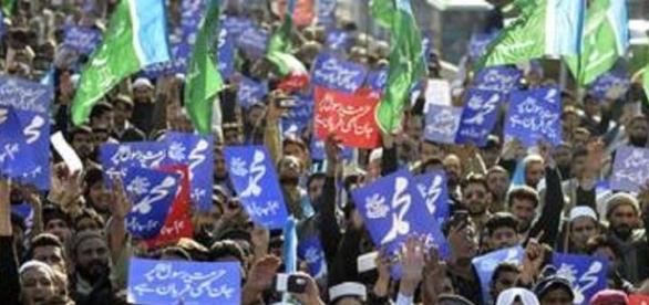 Manifestation au Pakistan