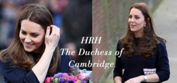 "Kate Middleton com o vestido ""Naomi"""