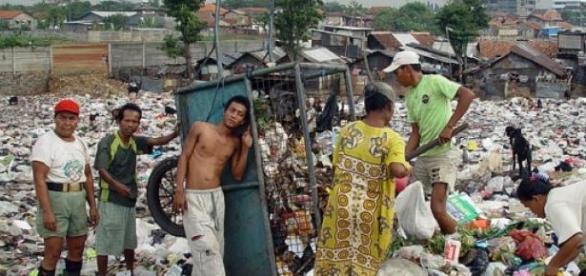 Pobreza em Jacarta, capital da Indonésia