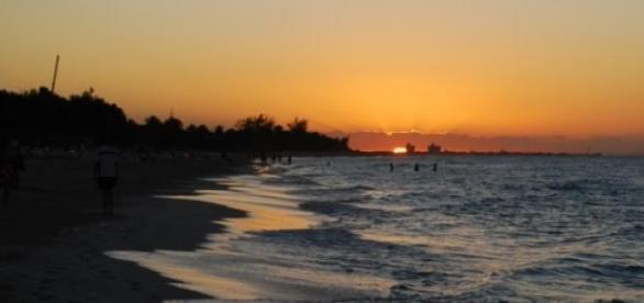 Sunset at a beach of Varadero, Cuba